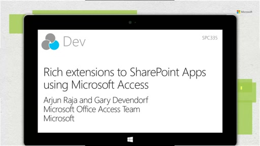 Rich extensions to SharePoint Apps using Microsoft Access