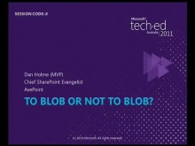 To BLOB or Not to BLOB? Storage Optimisation Demystified