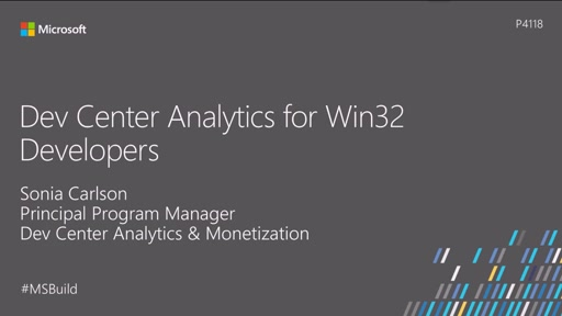 Dev Center analytics for Win32 developers