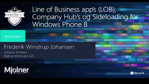 Line of Business app's (LOB), Company Hub's og Sideloading for Windows Phone 8