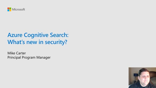 Azure Cognitive Search: What's new in security
