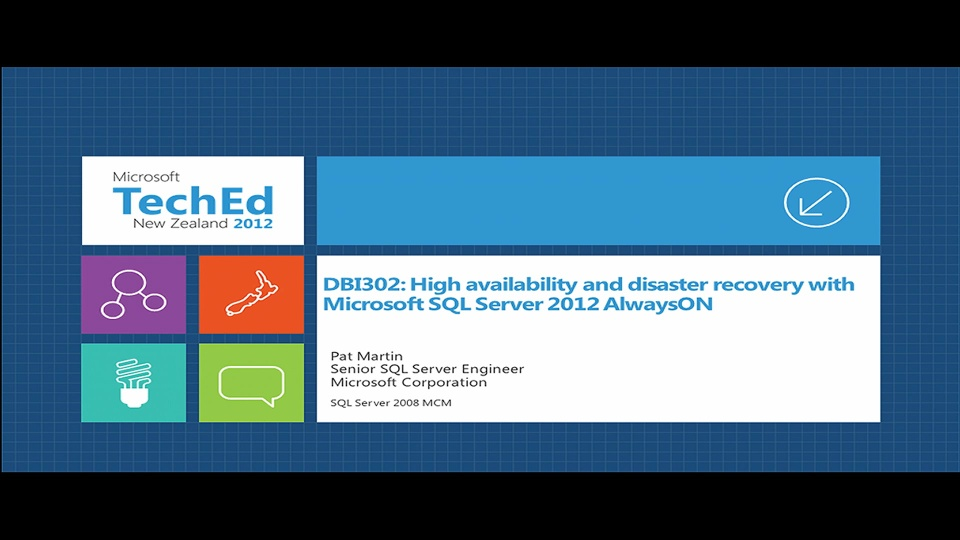 High Availability and Disaster Recovery with Microsoft SQL Server 2012 AlwaysOn