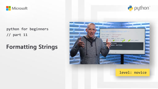 Python for Beginners [11 of 44] Formatting Strings