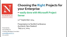 Choosing the Right Projects for your Enterprise – easily done with Microsoft Project Server