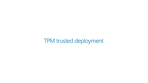 Guarded fabric deployment TPM mode