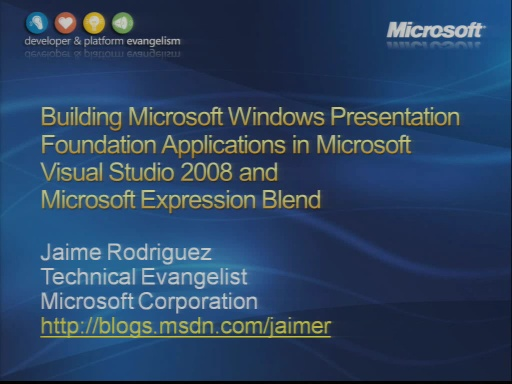 VS2008 Training Kit: Building Windows Presentation Foundation Applications in Visual Studio 2008 and