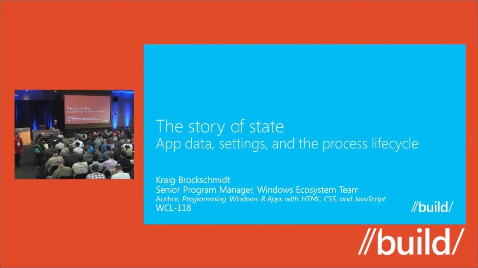 The Story of State: App Data, Settings, and The Process Lifecycle