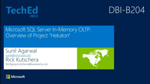 "Microsoft SQL Server In-Memory OLTP: Overview of Project ""Hekaton"""