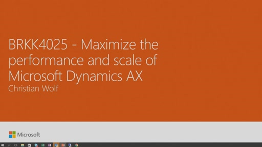 Maximize the performance and scale of Microsoft Dynamics AX