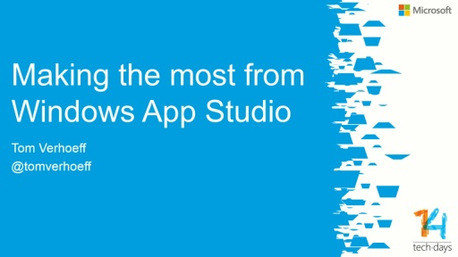 Making the most from Windows Phone Appstudio