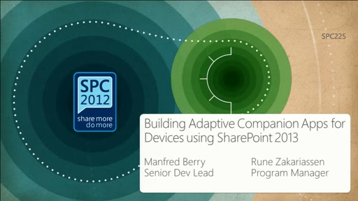 Step-by-Step : Building Adaptive Companion Apps for Devices using SharePoint 2013