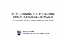 Deep Learning for Predicting Human Strategic Behavior