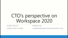 CTO's Perspective on Tomorrow's Workspace
