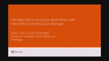 Manage and control your applications with Microsoft Azure Resource Manager