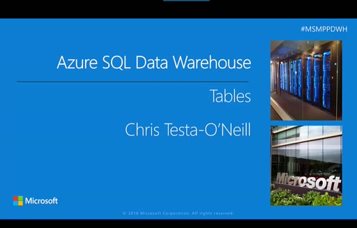 Part 2 – working with tables in Azure SQL Data Warehouse