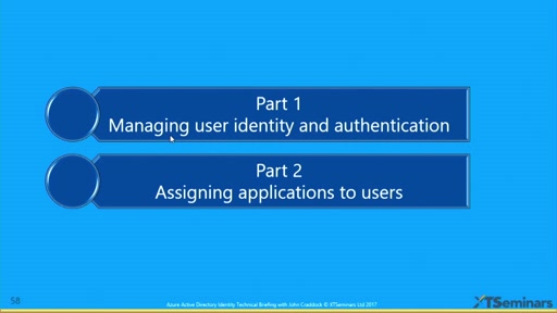 Azure Active Directory Identity Technical Briefing - Part 2 of 2