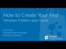 Shape'12: How to create your first Windows 8 Metro-Style game