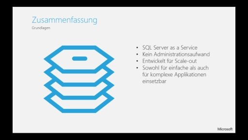 Tutorial - Windows Azure SQL Database - Teil 4/4 Zusammenfassung und FAQ