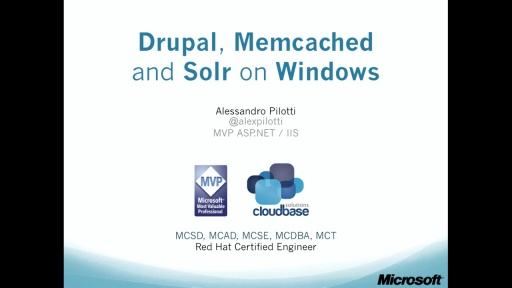 8. Drupal, Memcached and Solr on Windows