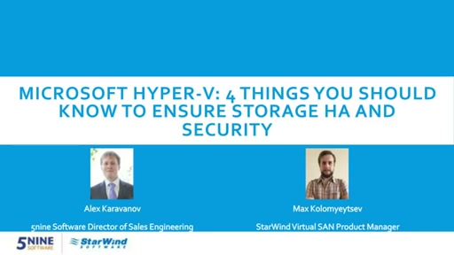 Ensure your storage high availability and security within your virtualization infrastructure