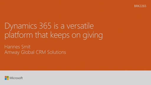 Discover how Dynamics CRM Online is a versatile platform that keeps on giving for Amway