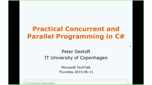 Highlights of practical concurrent and parallel programming with C#/.NET