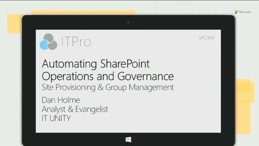 Automating SharePoint operations and governance: site provisioning and group management