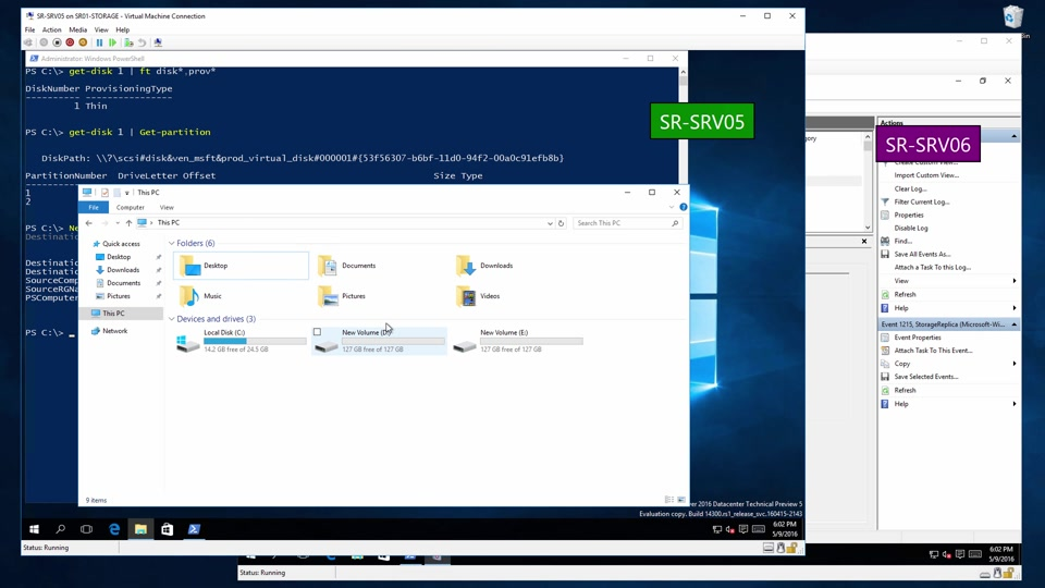 Storage Replica on thin-provisioned storage in Windows Server 2016  Technical Preview 5