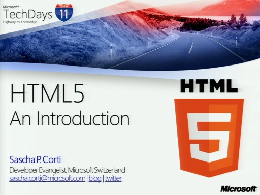 TechDays 11 Geneva - Introduction to HTML5 (e)