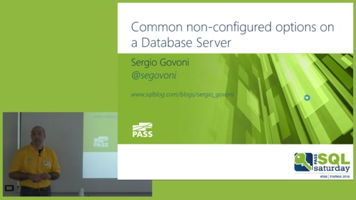 Common non-configured options on a Database Server