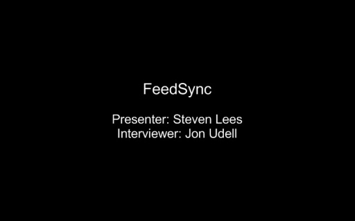 Steven Lees demonstrates FeedSync