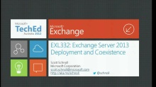 Exchange Server 2013 Deployment and Coexistence