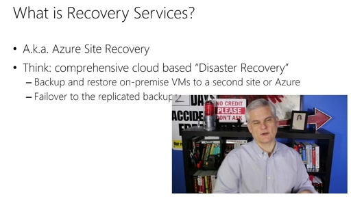Microsoft Azure Fundamentals: Virtual Machines: (28) Tour of Data Services: Recovery Services