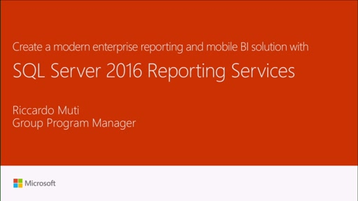 Create a modern enterprise reporting and mobile BI solution with SQL Server 2016