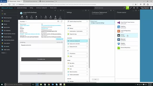 Configuring GitHub Continuous Deployment on Azure with Project Oxford Application