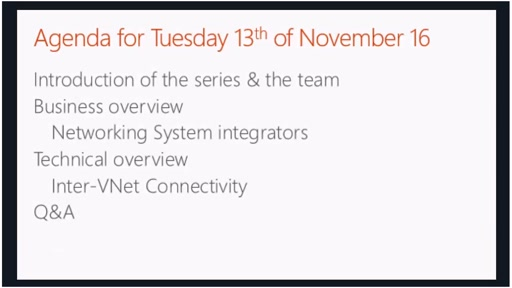 Azure Networking Deep Dive (13/12/2016)
