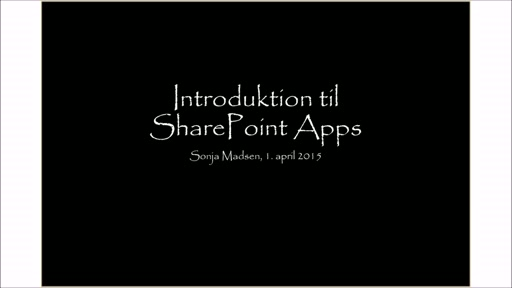 Introduktion til Office 365/SharePoint Apps