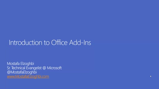Introduction to Office Add-Ins