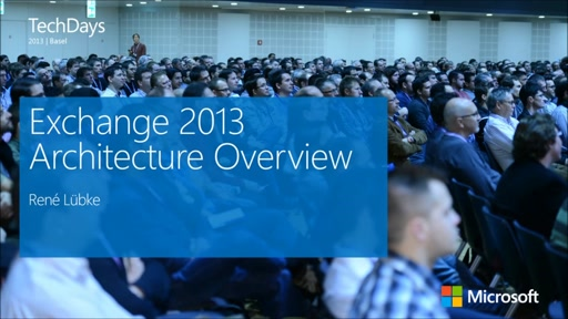 Exchange Server 2013 Architecture Overview