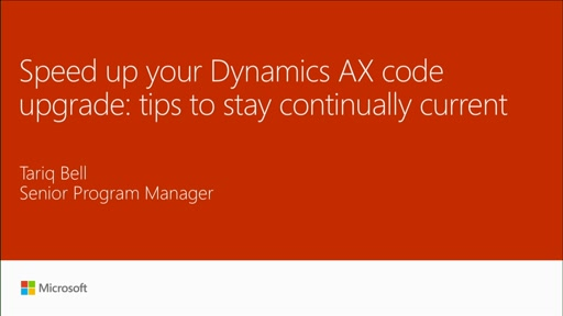 Speed up your Dynamics AX Code upgrade: tips and techniques to stay continually current