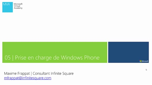 05 | Unity - Prise en charge de Windows Phone