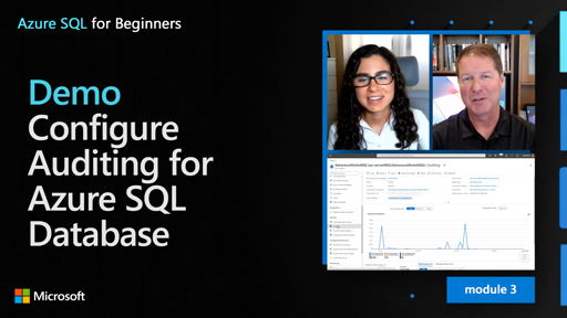 Demo: Configure Auditing for Azure SQL Database (29 of 61)