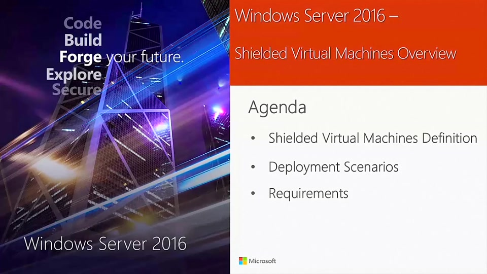 Introduction to Shielded Virtual Machines in Windows Server