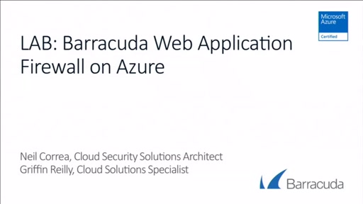 Barracuda Web Application Firewall (WAF) Virtual Lab