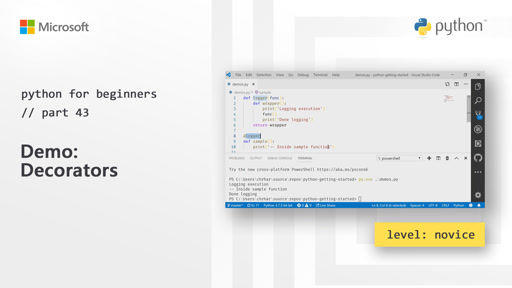 Python for Beginners [43 of 44] Demo: Decorators