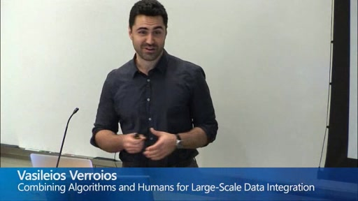 Combining Algorithms and Humans for Large-Scale Data Integration