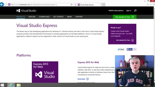 Visual Basic Fundamentals for Absolute Beginners: (02) Installing Visual Studio Express 2013 for Windows Desktop