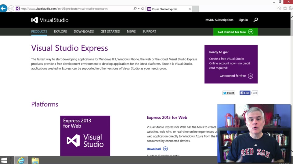 microsoft visual studio 2013 express edition download