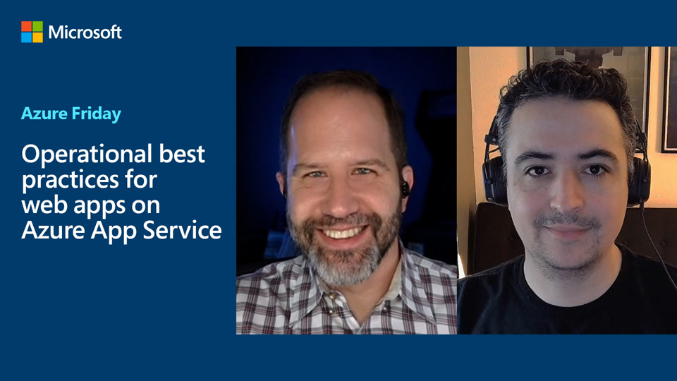 Operational best practices for web apps on Azure App Service