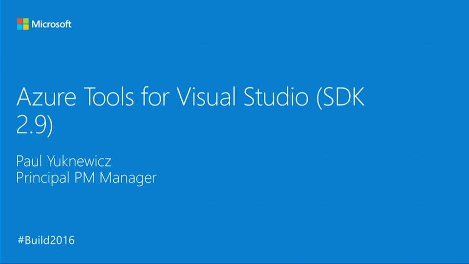 Azure Tools for Visual Studio (Azure SDK for .NET 2.9)